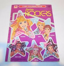 Vintage Golden Big Coloring Book Barbie and the Rockers 1987 No. 1147-33