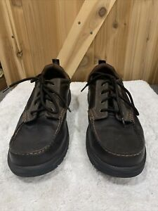 MENS skechers relaxed fit gel infused memory Foam Brown Loafer SIZE 13 64262