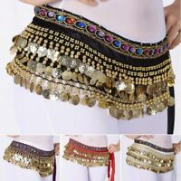NEW Sale Belly Dance Waist Chain Hip Scarf WOMEN Gold Coins Band Belt Costume