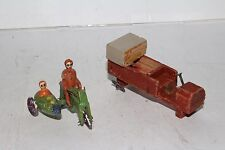 1920's Putz Toys Made in Germany Wooden Motorcycle and Side Car, Original