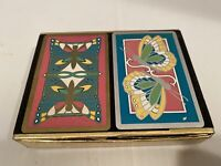 Vintage Congress Playing Cards Butterflies 2 Decks With Box Used