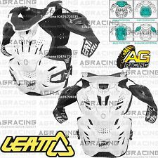 Leatt Fusion 3.0 Neck Brace Body Armour Adult Motocross MX White Large XLarge
