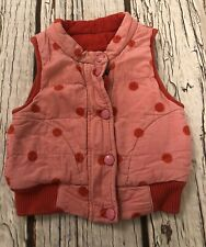 1-2 Years 12-18 Months Toby Tiger Gilet Girls Pink Baby Body Warmer 18-24 Months