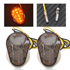 2X Flush Mount LED Turn Signal Light Indicators Blinker For Kawasaki Motorcycle