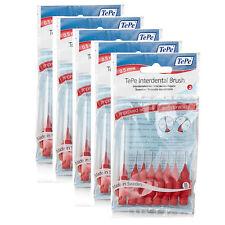 New Genuine TePe Interdental Brushes Red 0.5mm 5x8 brushes (TEPERed5bun)