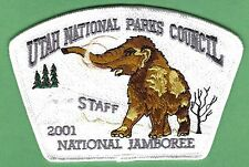 Utah National Parks Council 508 Oa 2001 Jamboree Wooly Mammoth Staff Jsp Patch