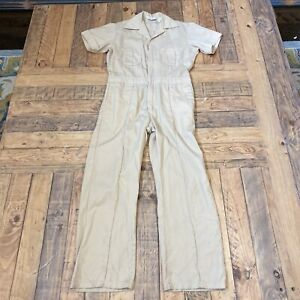 """Walls Coveralls Overalls Jumpsuit Master Made Size 36 Khaki 27.5"""" INSEAM"""