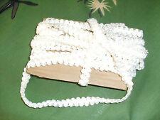 bande ruban galon -- blanc en fil tissu