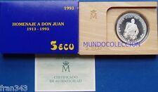 Moneda 5 Ecus año 1993 DON JUAN DE BORBÓN plata 1 onza