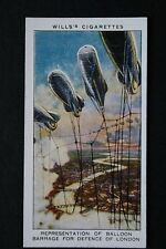 Barrage Balloon Anti-Aircraft Defences London  1930's Vintage Card # VGC