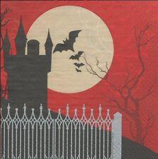 2 serviettes papier Halloween Nuit Decoupage Paper Napkins Frightful Night