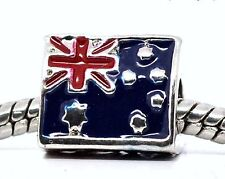Australia FLAG European Bead Charm World Cup Championships Olympic Bracelet NEW