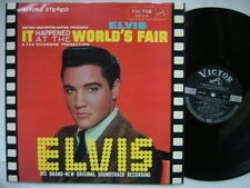 ELVIS PRESLEY IT HAPPENED AT THE WORLD'S FAIR / 60'S LAMINATED FLIP BACK COVER