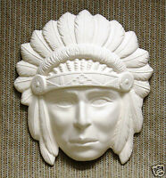 Ceramic Bisque Chief Mask Ocean State Mold 733 U-Paint Ready To Paint