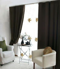 Black Concealed Tab Top Blockout Curtain 180 x 2 x 213