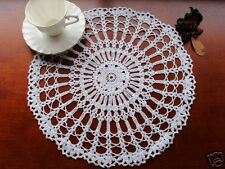 "NEW ""SHINING SUN"" WHITE COTTON Crochet Table Center Doily 14"""