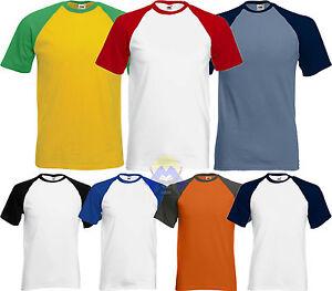 T-shirt BASEBALL Uomo/Man FRUIT OF THE LOOM Maglietta a Manica Corta 61-026-0
