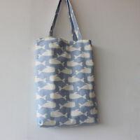 New Women's Reusable Shopping Handbag Eco Shoulder Bag Whales Print Pouch Tote