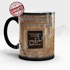 Harry Potter Coffee Mug I Solemnly Swear marauders map Color Changing Magic Cup