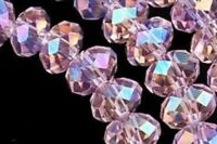 70  PCS , 6X8 mm Pink Multicolor AB Faceted Crystal Gemstone Abacus Loose Beads