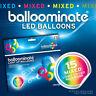 Mixed - 15 pack. Mixed LED Light Up Balloominate Balloons