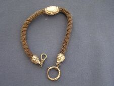 Antique Victorian Mourning Pocket Watch Woven Hair Chain Rose Gold Filled