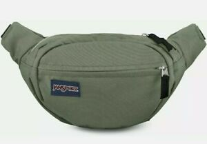 JANSPORT Fanny Pack 2 Pockets Waist bag Military Green Travel Hiking  Adventure