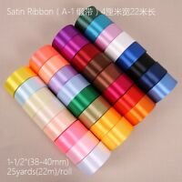 "25 Yards 40mm DIY 1 1/2"" craft Satin Ribbon Wedding Party / gift many pick"
