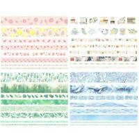 8 Rollen Washi Tape Set Klebeband DIY Papier Sticker Scrapbooking Tape Bes K4G5