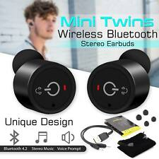 True Wireless Bluetooth 4.2 Mini Twins Stereo In-Ear Headset Earphone Earbuds