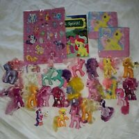 My Little Pony 21 Mixed Lot & Items Assorted Years  Napkins Puffy Stickers Book