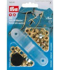 OCCHIELLI in Metallo Diametro 5mm Oro 40 Pezzi Prym Osen 542411