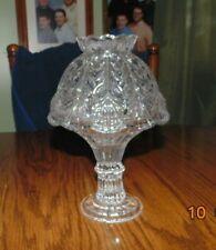 Glass Fairy Lamp Candle Holder Tealight Wedding Centerpiece Decor Rare 9 inches