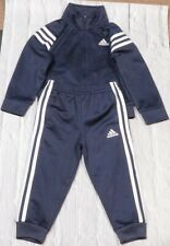 ADIDAS Track Suit 2 Piece Boys 2T Toddler Dark Navy Kids Clothing Wear
