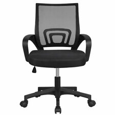 Mesh Office Chair Adjustable Executive Swivel Computer Desk Chair Fabric Seat UK