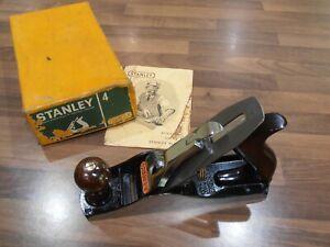 Vintage Stanley Bailey No 4 Woodworking Plane with original box