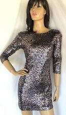 RUBBER DUCKY NWT $95 SZ S  Mini Sexy Sequin Dress Party Clubwear Stretch ANGL