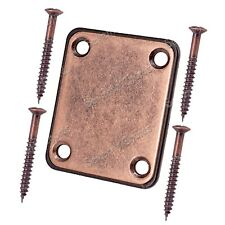Copper Red Neck plates Neck Joint Plates for Electric Bass Guitar Replacement