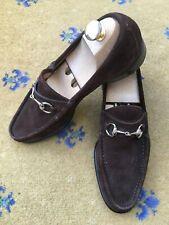 Gucci Mens Shoes Brown Suede Horsebit Loafers UK 7 8 US 8 9 EU 41 42