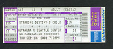 Destiny's Child Beyonce unused concert ticket Seattle Survivor Tour Say My Name