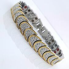 MEN'S LADIE'S STAINLESS STEEL  BIO MAGNETIC BRACELET 5 in 1 SILVER/GOLD SG1