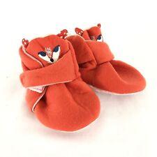 Cat & Jack Baby Crib Shoes Soft Fabric Fox Orange Size 3-6 Months