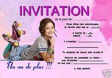 5 ou 12 cartes invitation anniversaire soy luna REF 360