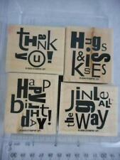 Stampin' Up! ALPHABET SOUP 4 WM Rubber Stamps 2006 Jiingle BirthdayThank Kiss 83