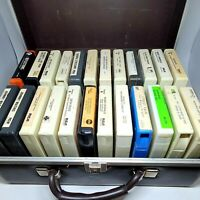 Lot of 24 Vintage 8-track Cassettes With Hard Case, Polka, Glenn Miller etc...