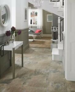 Keystone Brown Grey Porcelain Slate Effect Wall & Floor Tiles 600x400x9mm 22m2