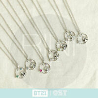 BTS BT21 Official Authentic Goods Silver Necklace Ver2 by OST + Tracking #
