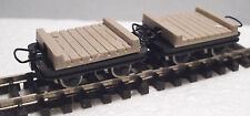 Roco 34607 - Narrow Gauge H0e/009 Flat Planked Bridge Wagon Set (2 Wagons) T48 P