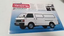 1980s FORD MAXI VAN 1 TON  Original Sales Brochure MALAYSIA Issue !