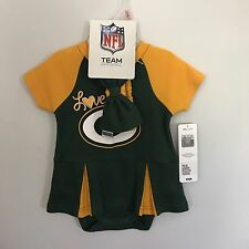 Green Bay PACKERS Cheerleader Dress 2 Piece Set Infant NFL Team Apparel